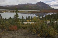 Alaska Denali highway in autumn. September Royalty Free Stock Photography
