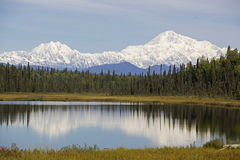 Alaska Denali Mountain Stock Photo