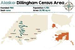 Alaska: Dillingham spisu ludności teren Ilustracja Wektor