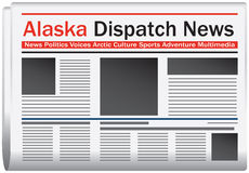 Alaska dispatch news. Newspaper Alaska dispatch news, abstract newspaper states. Vector illustration vector illustration
