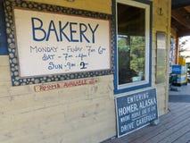 Alaska - dois sinais da padaria das irmãs Imagens de Stock