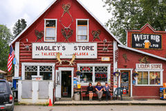 Alaska Downtown Talkeetna Store and Pub Stock Photography