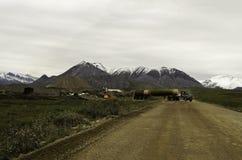 Alaska drogi kierowcy ciężarówki Zdjęcia Royalty Free