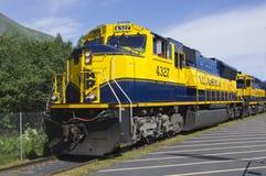 Alaska-Eisenbahn Stockbild