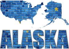 Alaska en una pared de ladrillo Imagen de archivo libre de regalías