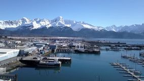 Alaska färjalansering stock video