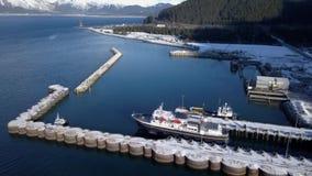 Alaska färjalansering lager videofilmer