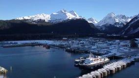 Alaska färjalansering arkivfilmer