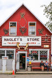 Alaska Famous Nagley's Store in Talkeetna. A view of famous Nagley's General Store in downtown Talkeetna, Alaska. Talkeetna, a small town in the interior of stock photo