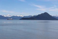 Alaska Ferry with Kadin Island Stock Photos