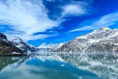 alaska fjärdglaciär Arkivfoton