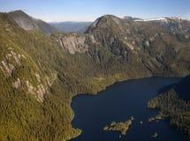alaska fjord dimmiga USA Royaltyfri Fotografi