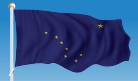 alaska flagę Fotografia Royalty Free