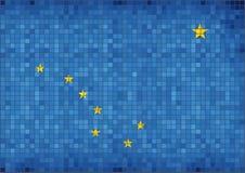 alaska flagę Zdjęcia Stock