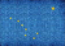 alaska flagę Zdjęcie Stock