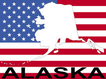 Alaska and flag Stock Image