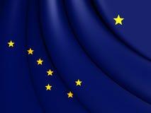alaska flagę Zdjęcia Royalty Free