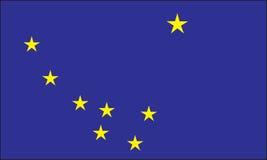 Alaska flag. State of Alaska vector flag illustration Stock Photo