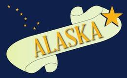 Alaska flaga ślimacznica ilustracji