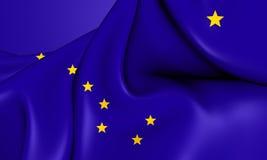 alaska flagga royaltyfri illustrationer