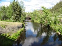 alaska flod Royaltyfri Foto
