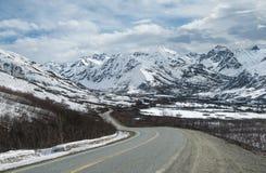 Alaska góry Byway Zdjęcie Stock