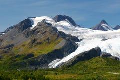 alaska glaciär nära valdezworthington Royaltyfri Foto