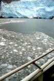 alaska glaciärhubbard Arkivbild