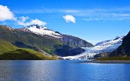 alaska glaciärmendenhall Royaltyfri Fotografi
