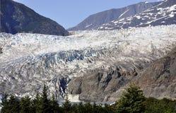 alaska glaciärmendenhall Arkivfoton