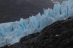 alaska glaciärportage arkivfoto