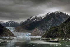 Alaska Glacier. HDR image taken in Tracy Arm, Alaska Stock Photo