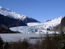 Alaska Glacier. Alaskan glacier and mountains royalty free stock photos