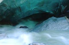Alaska Glacier. Alaska, ,ckimate change  ,making caves in Mendanhall glacier in Juneau Stock Images