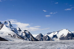 Alaska Glacier. Rocky Mountains Royalty Free Stock Photos