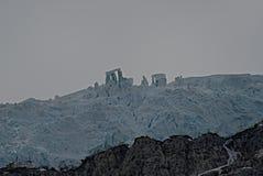 Alaska Glacier with Stonehenge Formation. Alaskan glacier with Stonehenge-like formation royalty free stock image