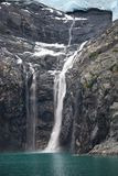 Alaska Glacier and Waterfall Stock Images