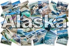 Alaska Glaciers collage royalty free stock photography