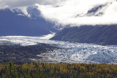 Alaska Glennhighway in autumn. Alaska Glenn highway in autumn September Stock Photo