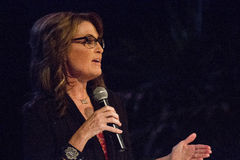 Alaska Governor Sarah Palin. Gives a presentation speech at Grand Canyon University in Phoenix, Arizona, for the United We Stand Conservative Event royalty free stock image