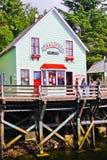 Alaska - het Huis van de Beroemde Dolly van de Kreekstraat Stock Afbeeldingen
