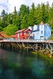 Alaska - het Winkelen Ketchikan 2 van de Straat van de Kreek Royalty-vrije Stock Fotografie