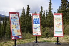 Alaska Highway Canada Information Signs Royalty Free Stock Photo