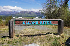 Alaska Highway Canada Kluane River Sign Royalty Free Stock Photos