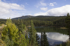 Alaska Highway Canada Remote Lake Royalty Free Stock Image