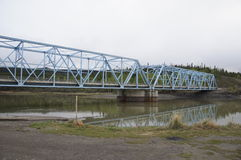 Alaska Highway Canada Steel Blue Bridge Royalty Free Stock Image