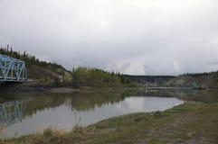 Alaska Highway Canada Steel Blue Bridge Stock Photography
