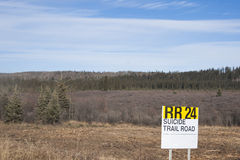 Alaska Highway Canada Suicide Trail. Alaska Highway, British Columbia, Canada Suicide Trail north of Fort Saint John and Pink Mountain stock photos