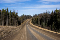 Alaska Highway Canada Suicide Trail. Alaska Highway, British Columbia, Canada Suicide Trail north of Fort Saint John and Pink Mountain Royalty Free Stock Photo