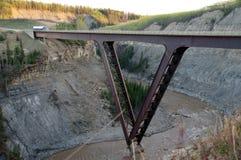 Alaska Highway Kiskatina River Steel Bridge Stock Photography